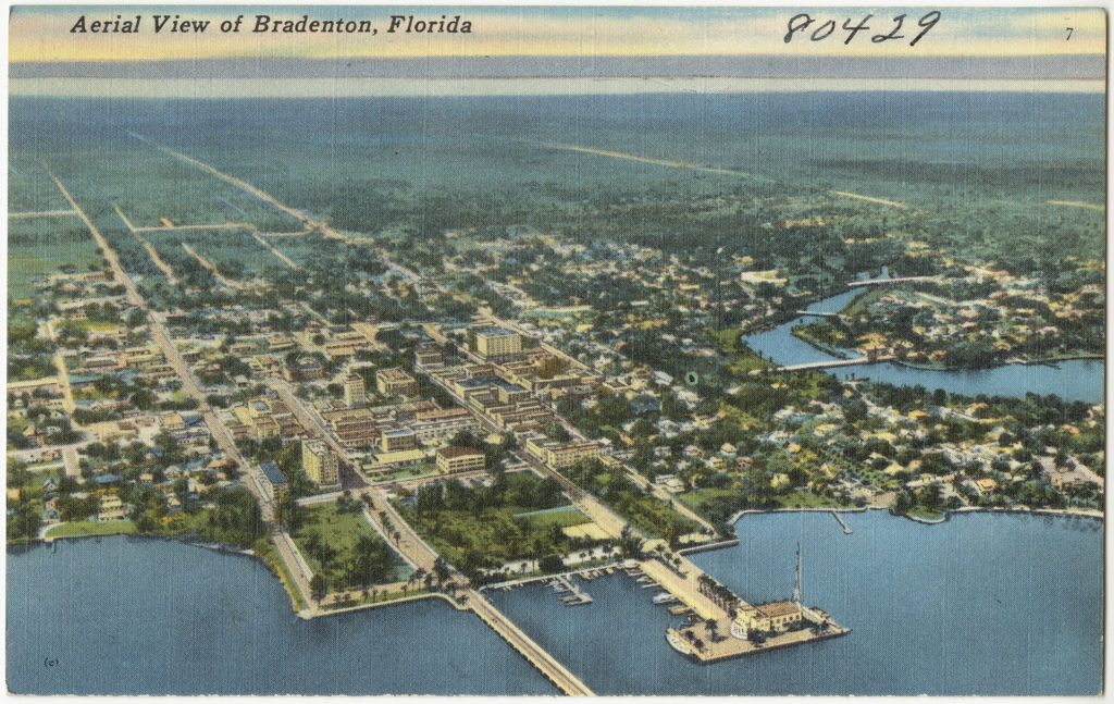 Historic Bradenton Florida Map